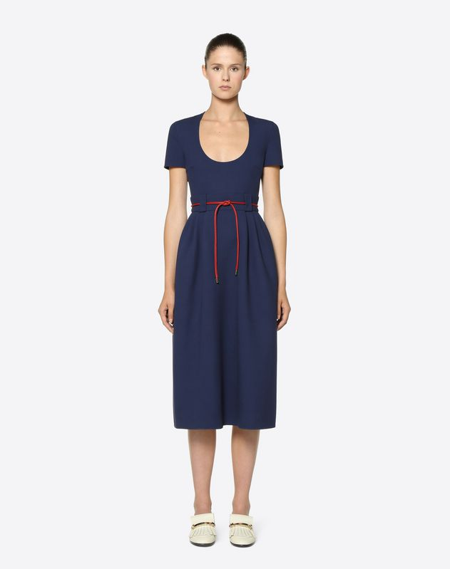 Double Crêpe Wool Dress