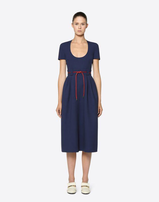 Vestido de crespón de lana doble