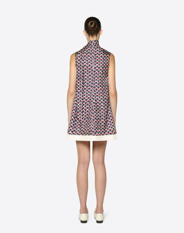 Valentino Scale Twill Dress