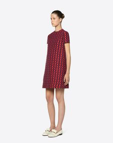 V Brocade Dress