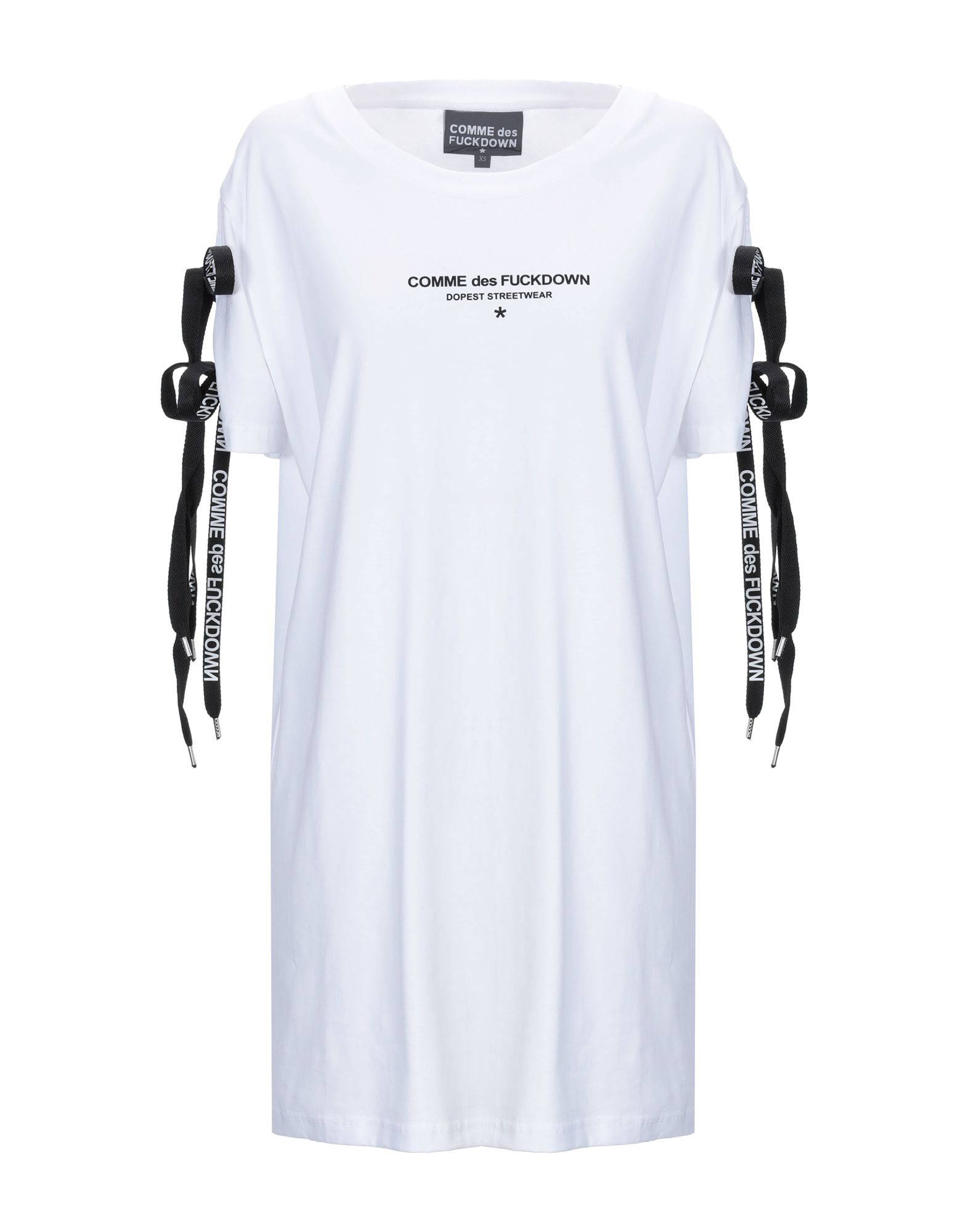 《送料無料》COMME DES FUCKDOWN レディース ミニワンピース&ドレス ホワイト XS コットン 100%