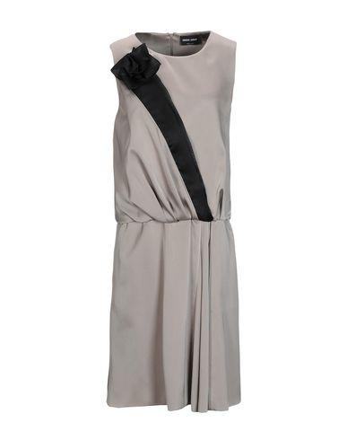 Купить Платье до колена цвет голубиный серый