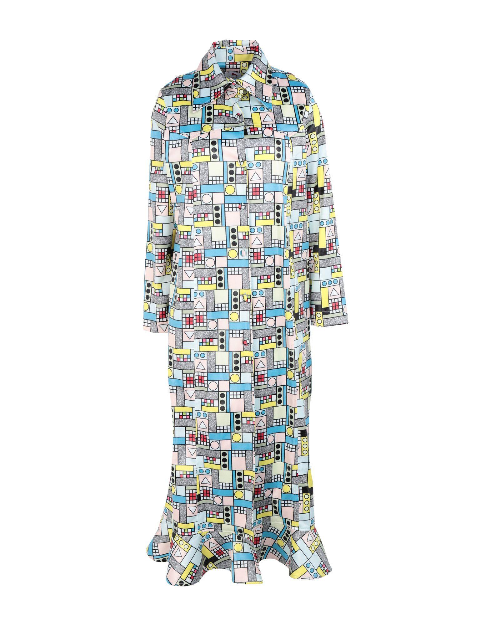 ULTRA'CHIC Платье длиной 3/4 платье рубашка fox yulia sway платье рубашка fox