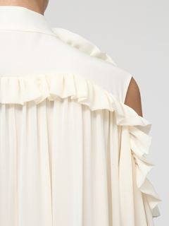 Cut-out shoulder dress