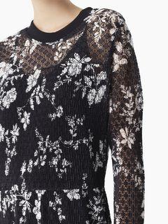 """Robe en jersey dentelle à imprimé """"Floral shades"""""""