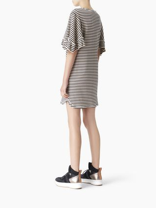 Flared-sleeve dress