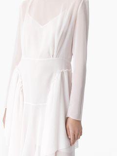 Robe asymétrique en georgette