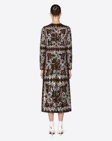 Embroidered Mini Bandana Chiffon Dress