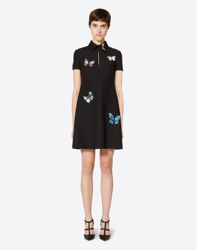 Embroidered Butterflies Dress