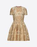 Tartan Flower Brocade Dress