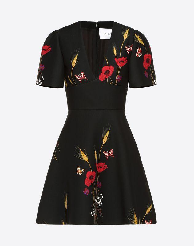 Robe en crêpe couture Flowery Meadow