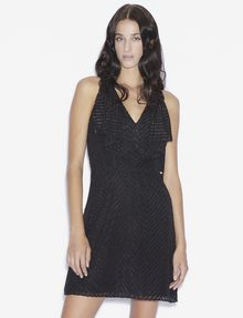 ARMANI EXCHANGE SEQUINED CHEVRON RUFFLE-FRONT DRESS Midi dress [*** pickupInStoreShipping_info ***] f