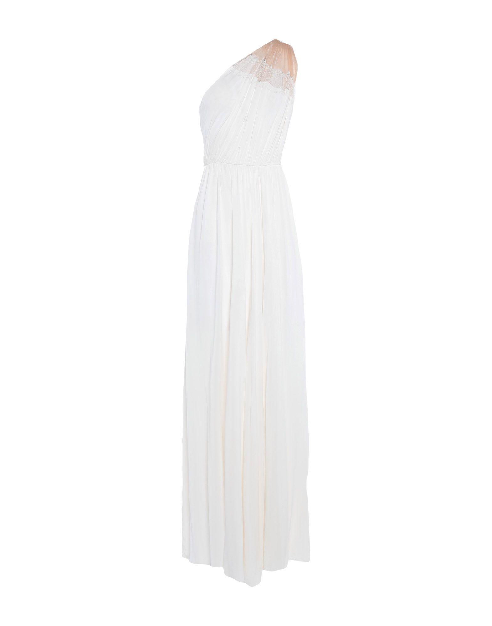 《期間限定セール中》ELISABETTA FRANCHI レディース ロングワンピース&ドレス アイボリー 46 コットン 92% / ポリウレタン 8%
