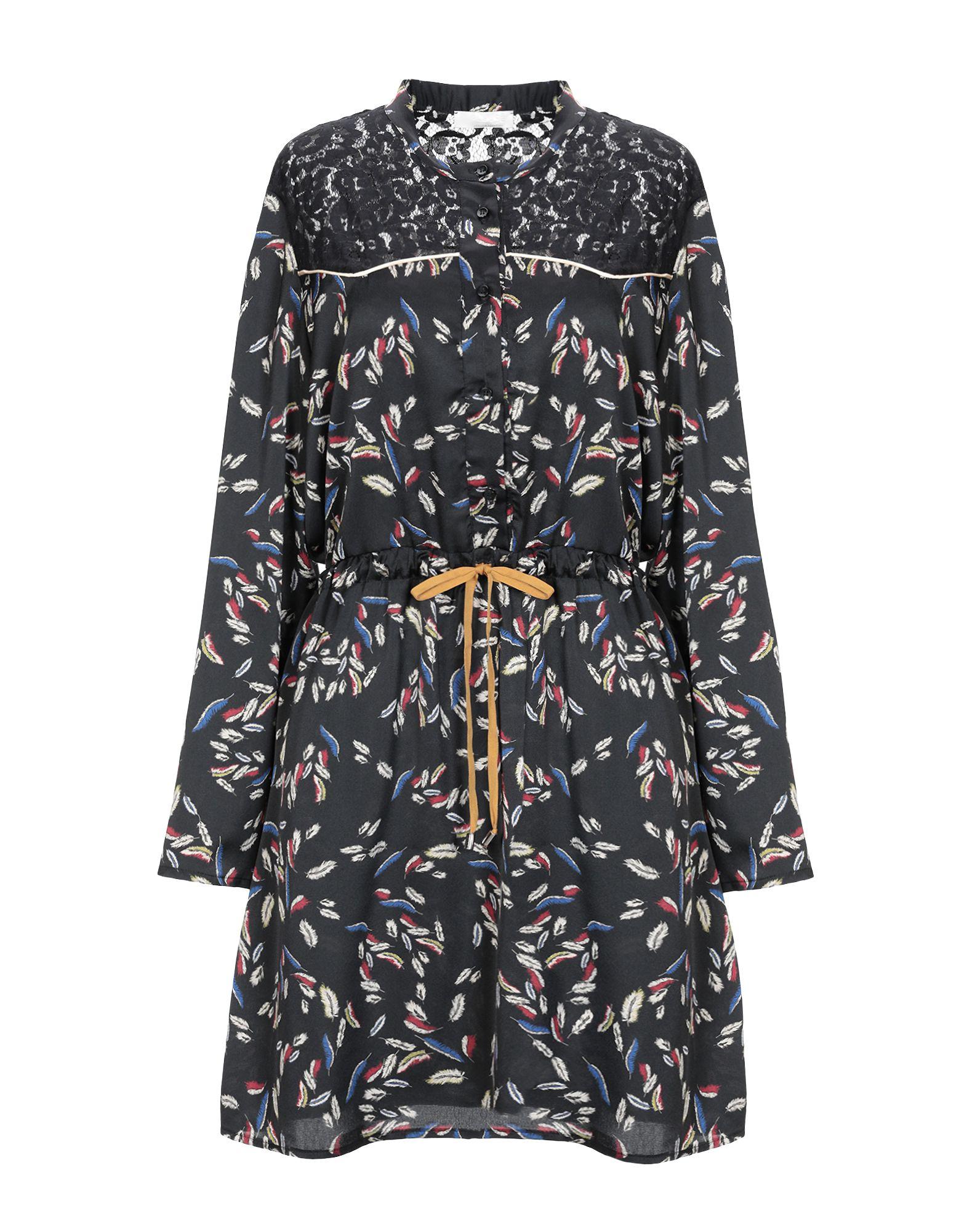 PLEASE Короткое платье платье рубашка fox yulia sway платье рубашка fox