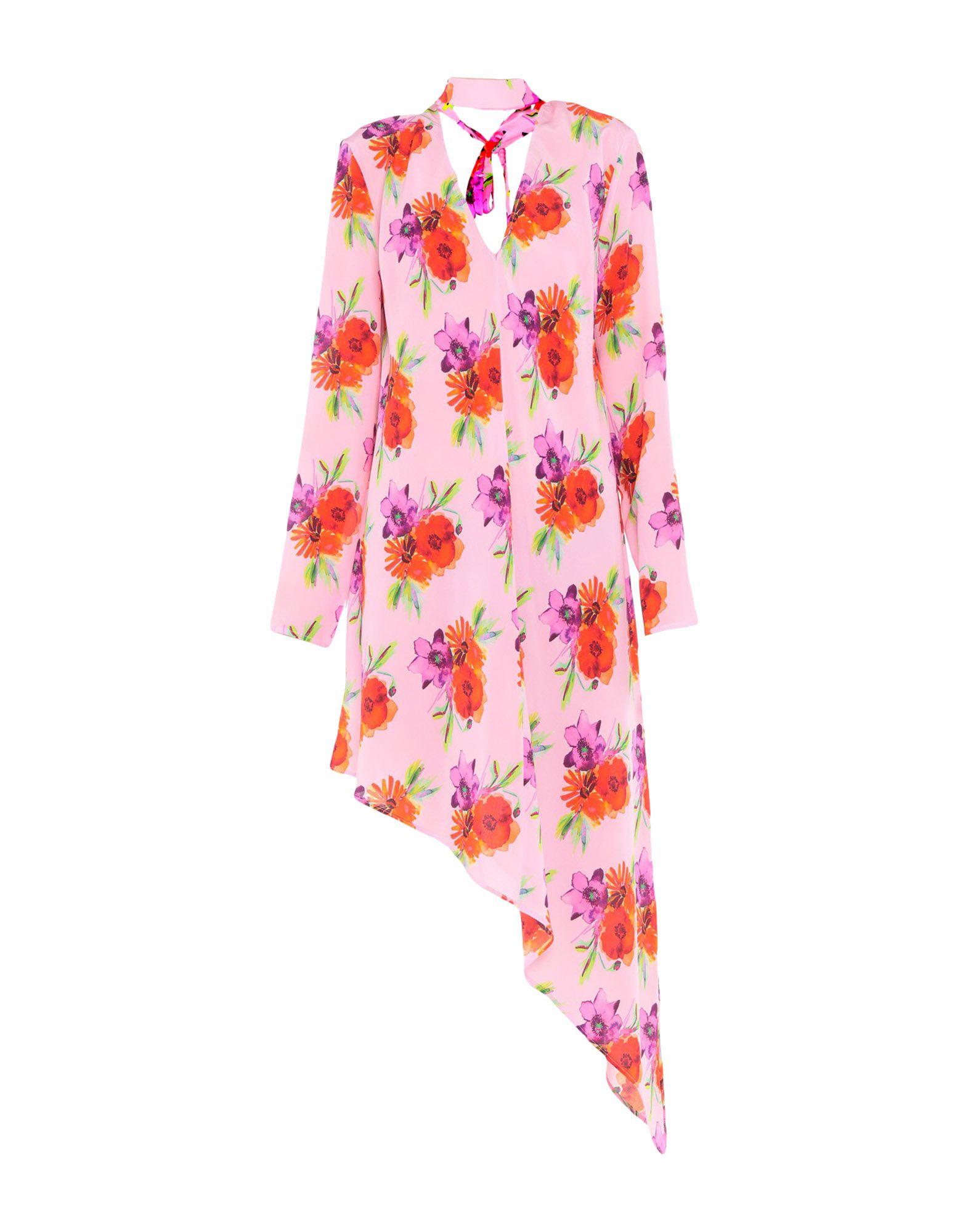 《送料無料》MSGM レディース ミニワンピース&ドレス ピンク 40 シルク 100%
