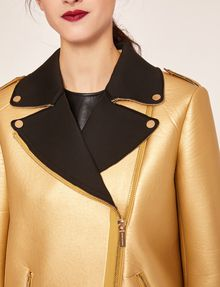 ARMANI EXCHANGE METALLIC BONDED LONGLINE MOTO Blouson Jacket [*** pickupInStoreShipping_info ***] b