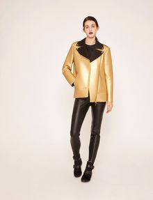 ARMANI EXCHANGE METALLIC BONDED LONGLINE MOTO Blouson Jacket [*** pickupInStoreShipping_info ***] d