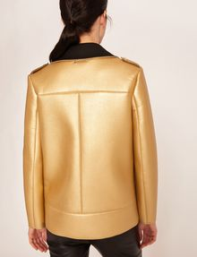 ARMANI EXCHANGE METALLIC BONDED LONGLINE MOTO Blouson Jacket [*** pickupInStoreShipping_info ***] e