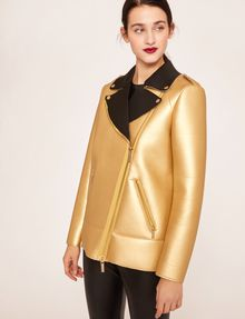 ARMANI EXCHANGE METALLIC BONDED LONGLINE MOTO Blouson Jacket [*** pickupInStoreShipping_info ***] f