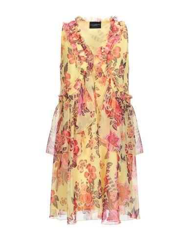 Купить Женское короткое платье  желтого цвета