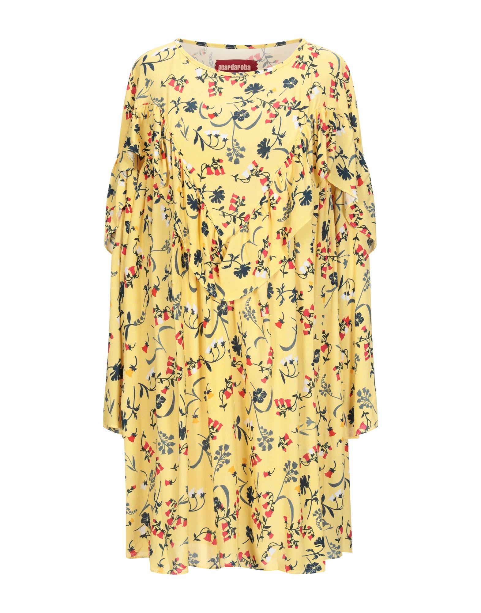《送料無料》GUARDAROBA by ANIYE BY レディース ミニワンピース&ドレス イエロー S レーヨン 100%