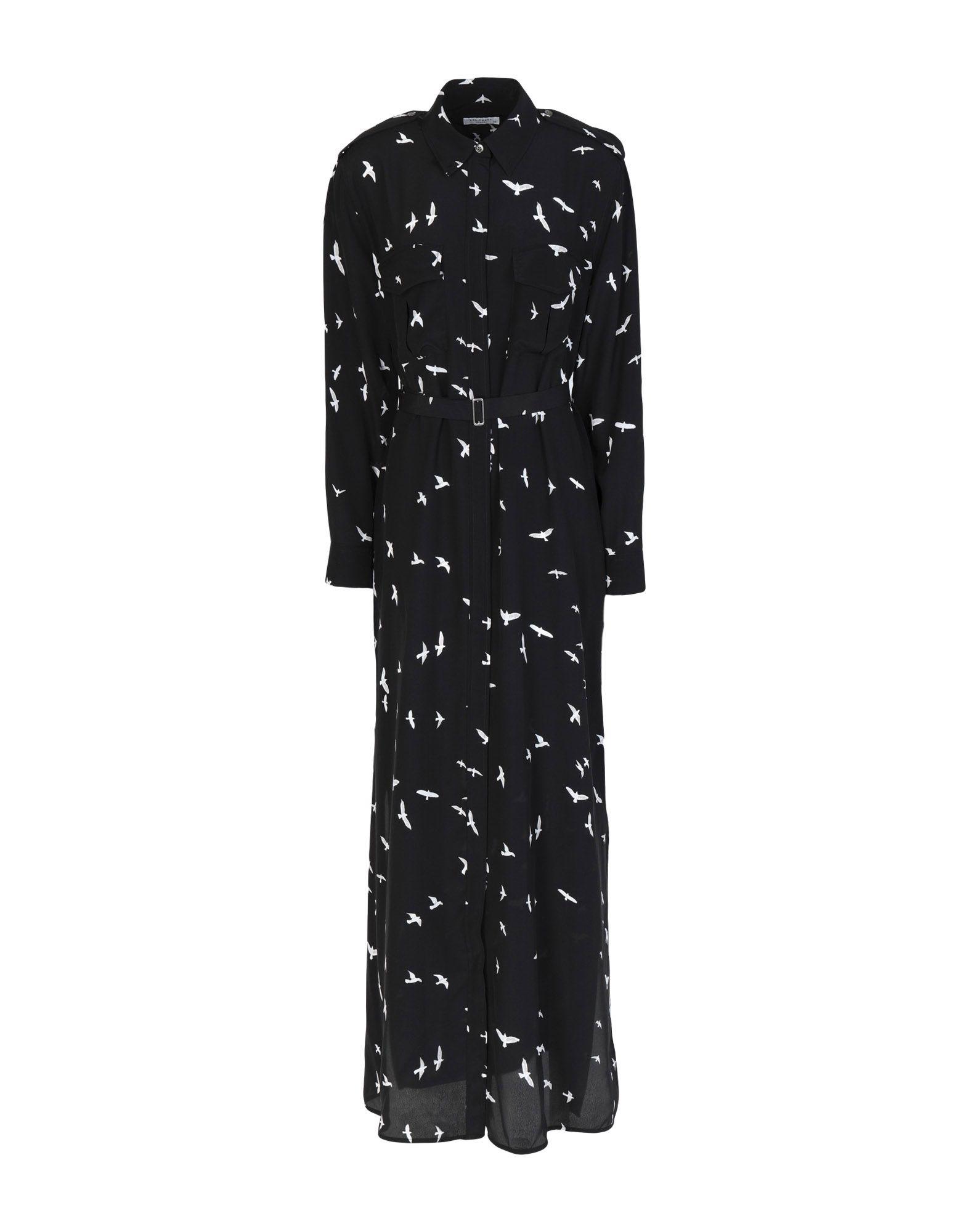EQUIPMENT Длинное платье платье рубашка fox yulia sway платье рубашка fox