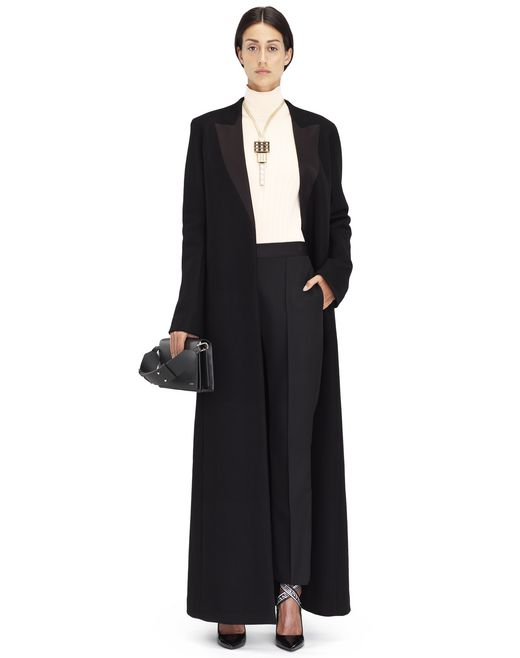 LONG BLACK DOUBLE CASHMERE COAT - Lanvin