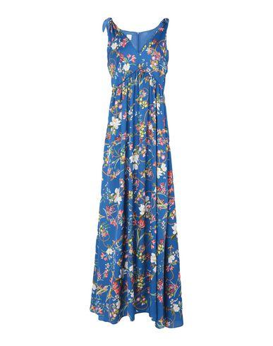Купить Женское длинное платье  синего цвета