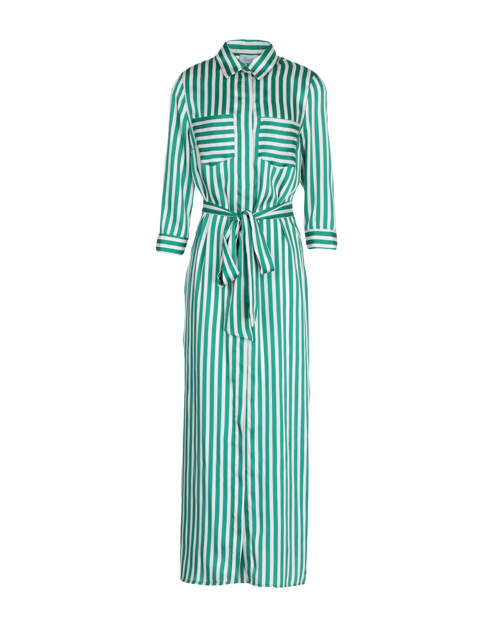 《送料無料》HOPPER レディース ロングワンピース&ドレス グリーン 42 ポリエステル 100%