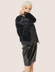 ARMANI EXCHANGE FAUX-SHEARLING BOMBER Blouson Jacket Woman a