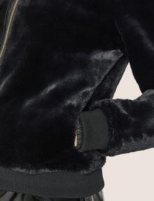 ARMANI EXCHANGE FAUX-SHEARLING BOMBER Blouson Jacket Woman b