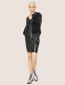 ARMANI EXCHANGE FAUX-SHEARLING BOMBER Blouson Jacket Woman d