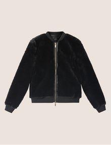 ARMANI EXCHANGE FAUX-SHEARLING BOMBER Blouson Jacket [*** pickupInStoreShipping_info ***] r
