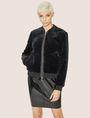 ARMANI EXCHANGE FAUX-SHEARLING BOMBER Blouson Jacket Woman f