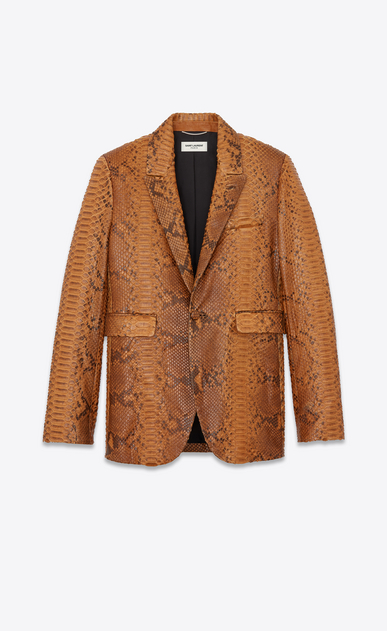 Suit jacket in mottled python