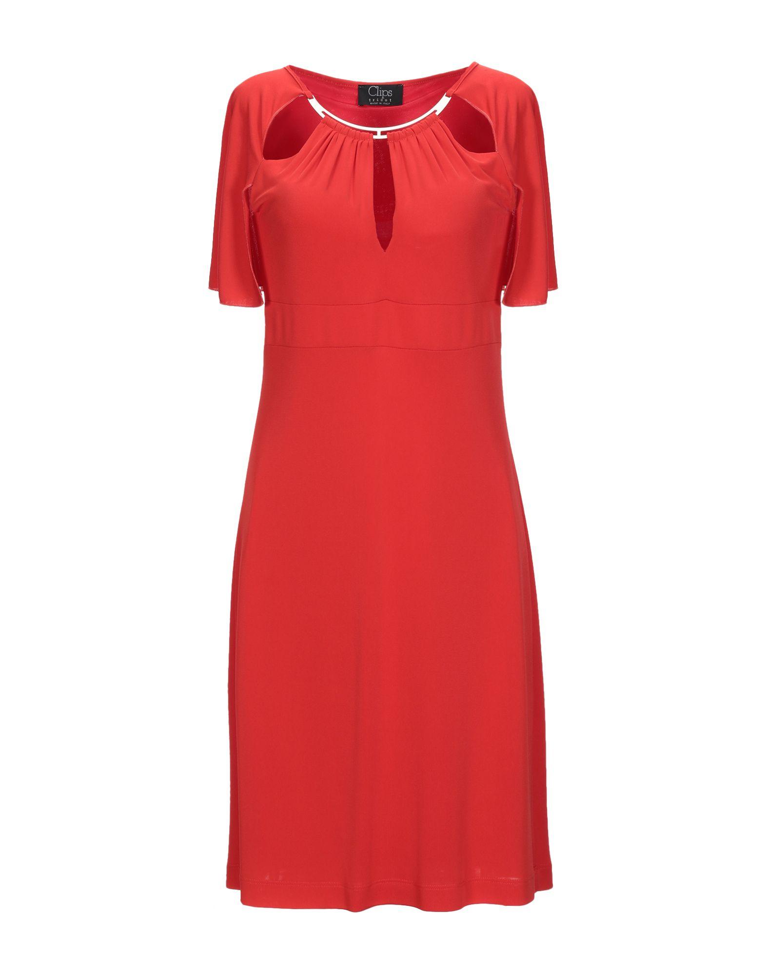 CLIPS Платье до колена test alligator clips crocodile clamp red black size l 5 pairs