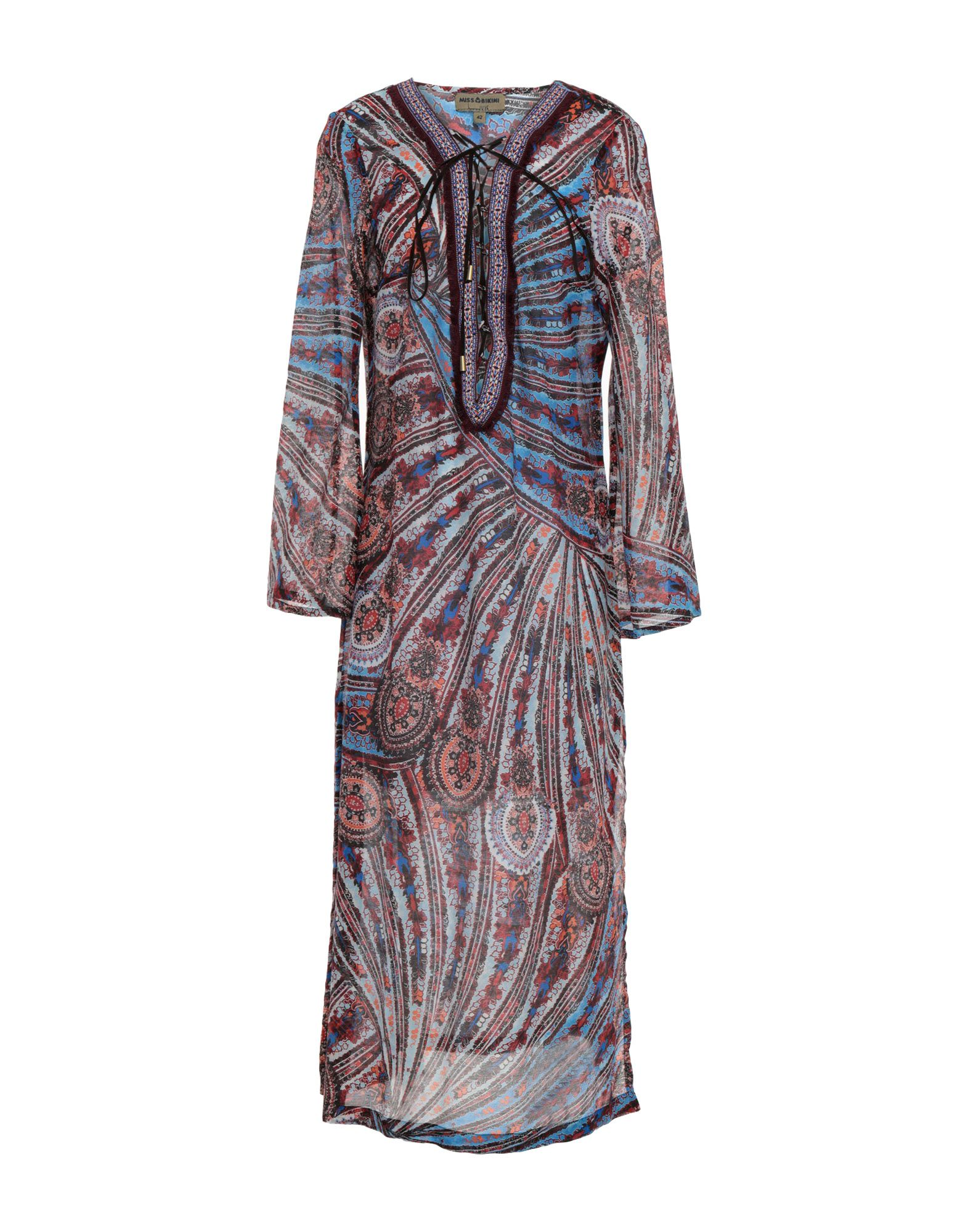 MISS BIKINI LUXE Платье длиной 3/4 v plunge halter bikini set