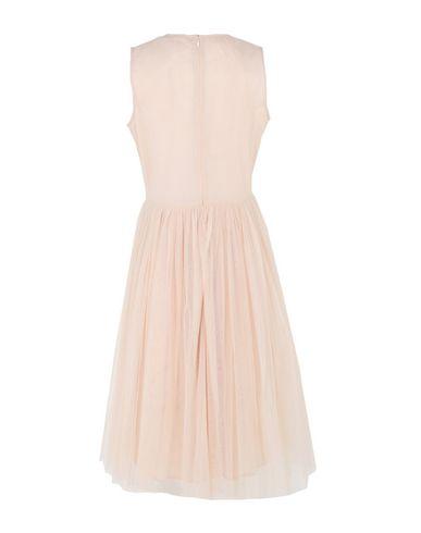 Фото 2 - Платье до колена цвет телесный