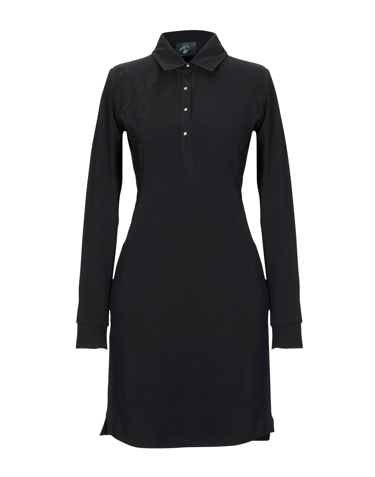 BEVERLY HILLS POLO CLUB Damen Kurzes Kleid Farbe Schwarz Größe 5