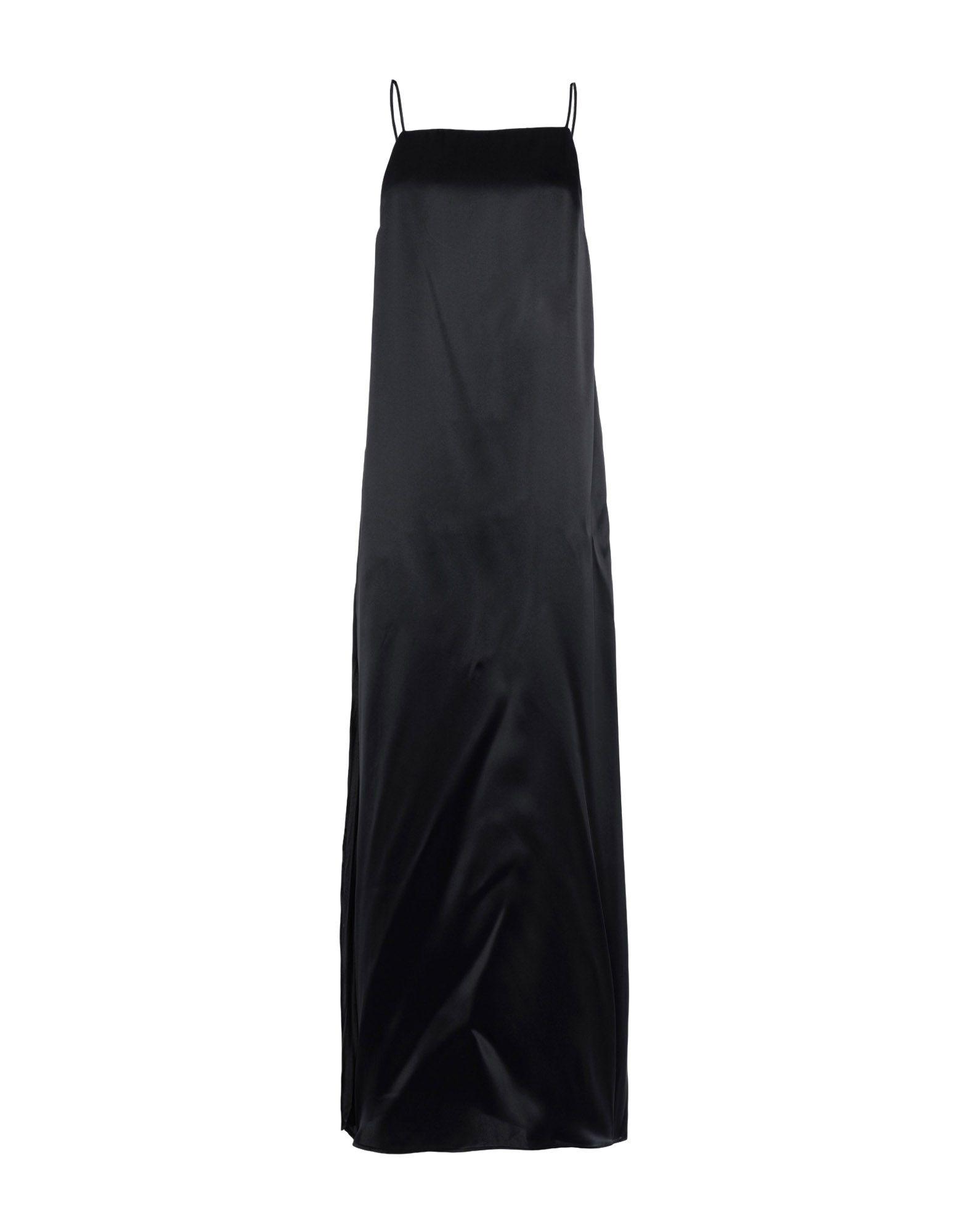 《セール開催中》LIVIANA CONTI レディース ロングワンピース&ドレス ブラック 46 シルク 96% / ポリウレタン 4%