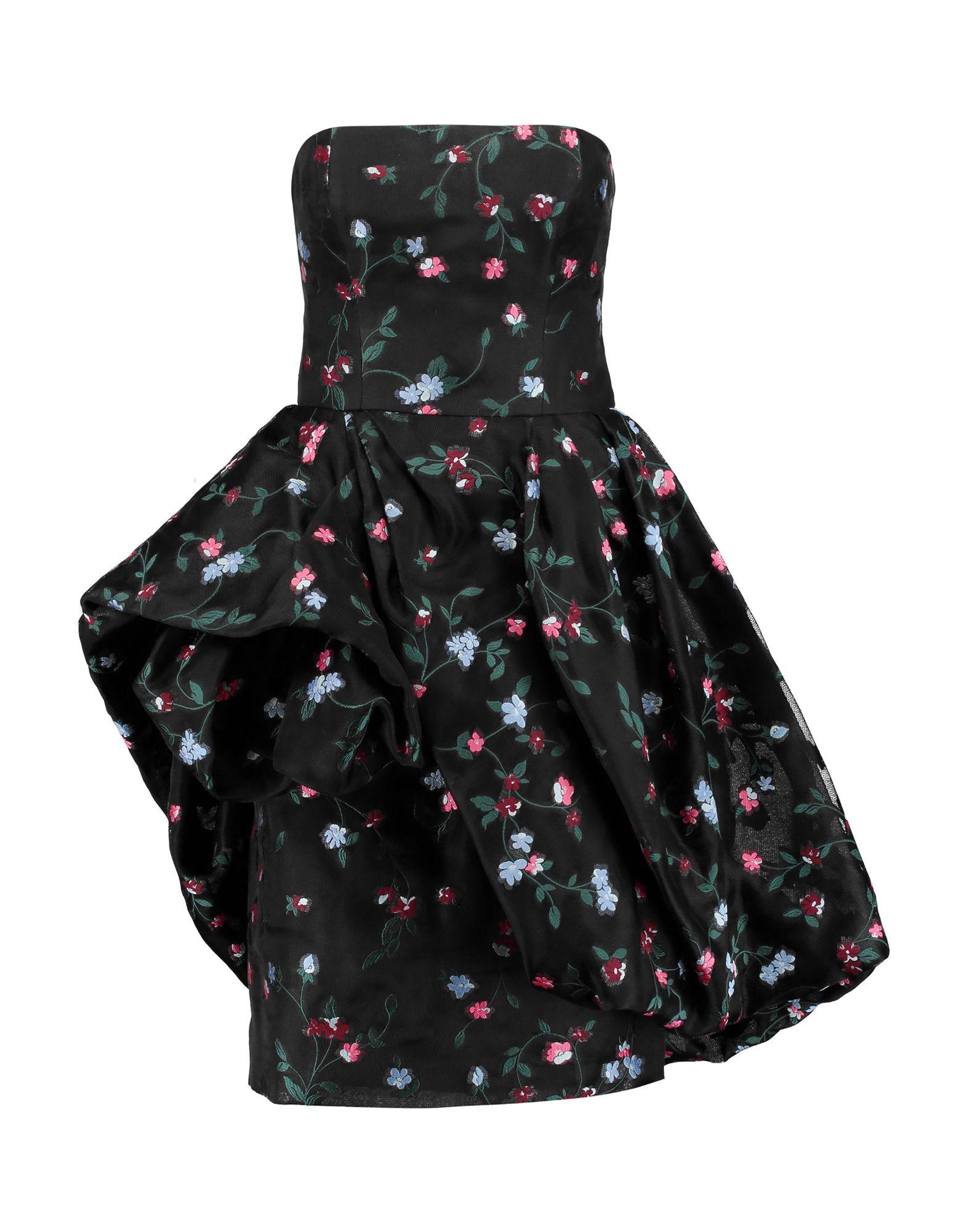 《送料無料》OSCAR DE LA RENTA レディース ミニワンピース&ドレス ブラック 8 ポリエステル 100%