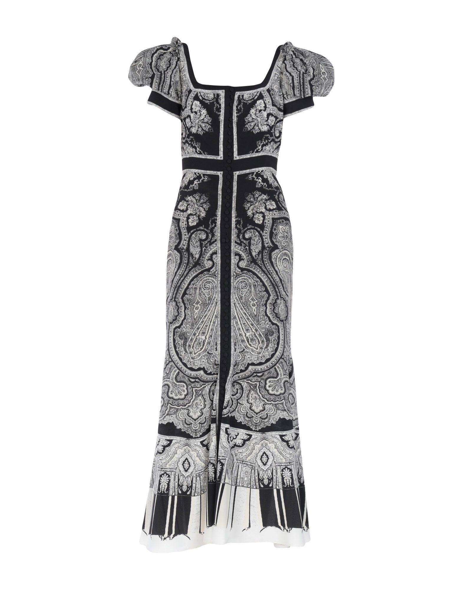 《送料無料》ALEXANDER MCQUEEN レディース ロングワンピース&ドレス ブラック 40 シルク 100%