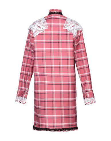 Фото 2 - Женское короткое платье MSGM пастельно-розового цвета