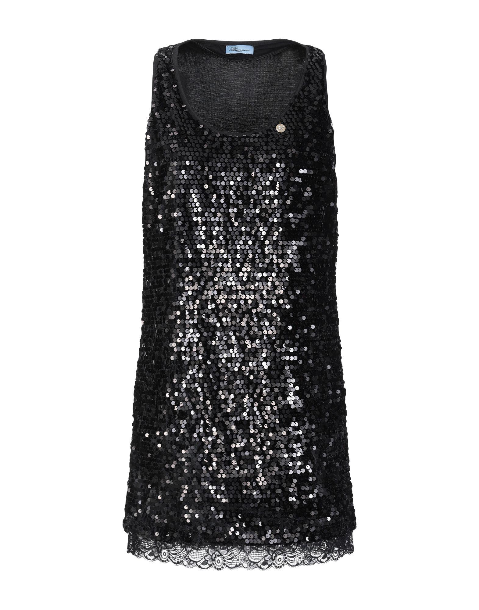 BLUMARINE Короткое платье платье без рукавов с кружевной вставкой на спинке