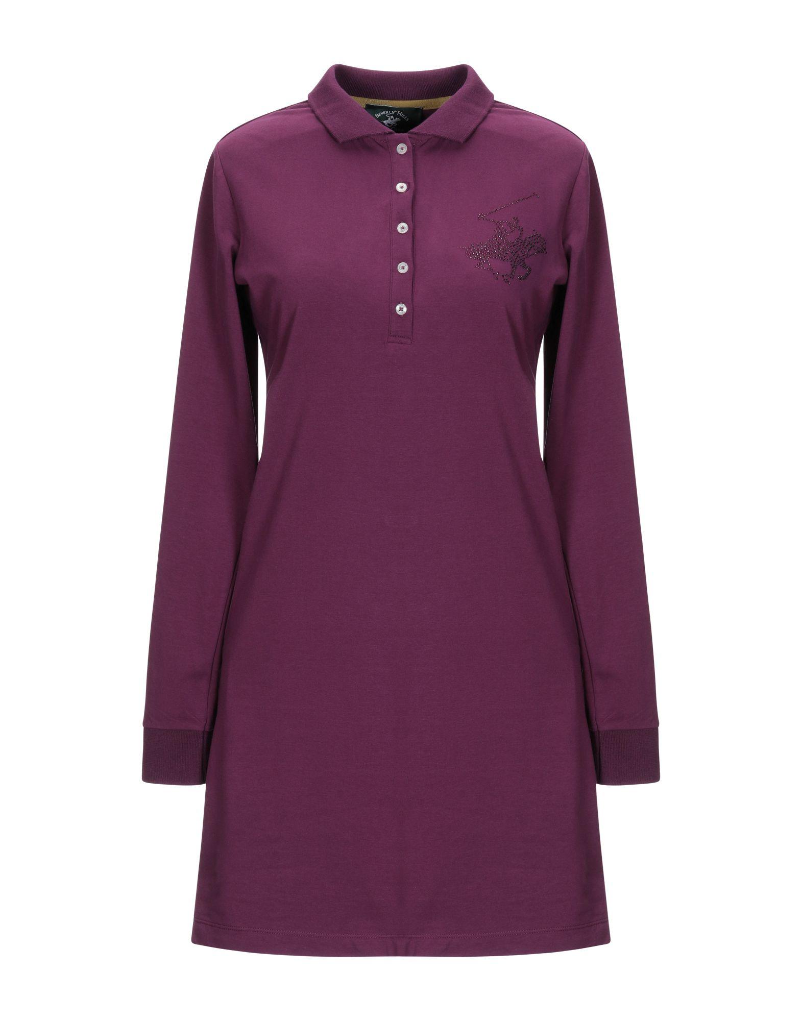 BEVERLY HILLS POLO CLUB Damen Kurzes Kleid Farbe Violett Größe 5