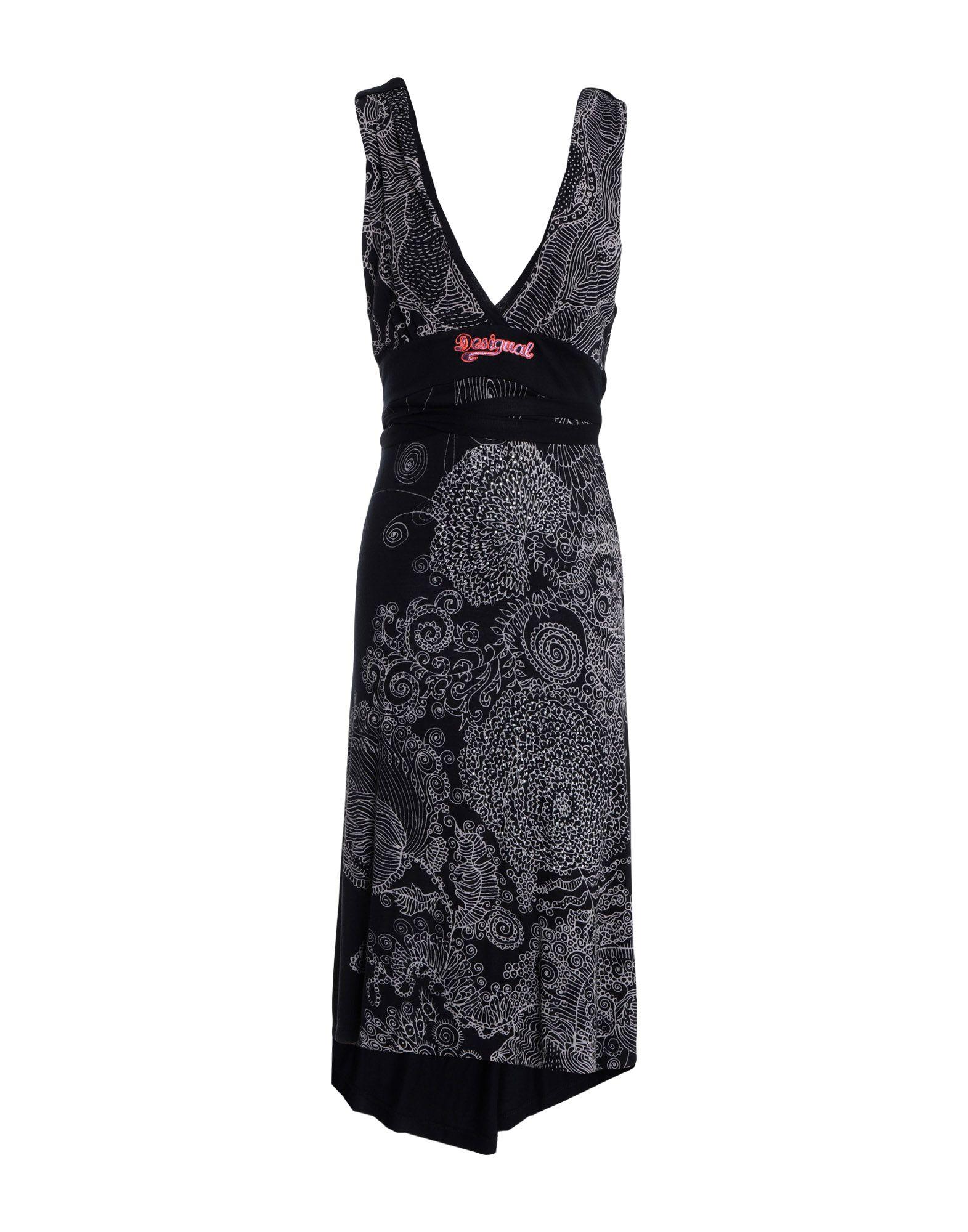 DESIGUAL Платье до колена женское платье dotfashion o 2015 sheinside vestidos desigual dress150122509