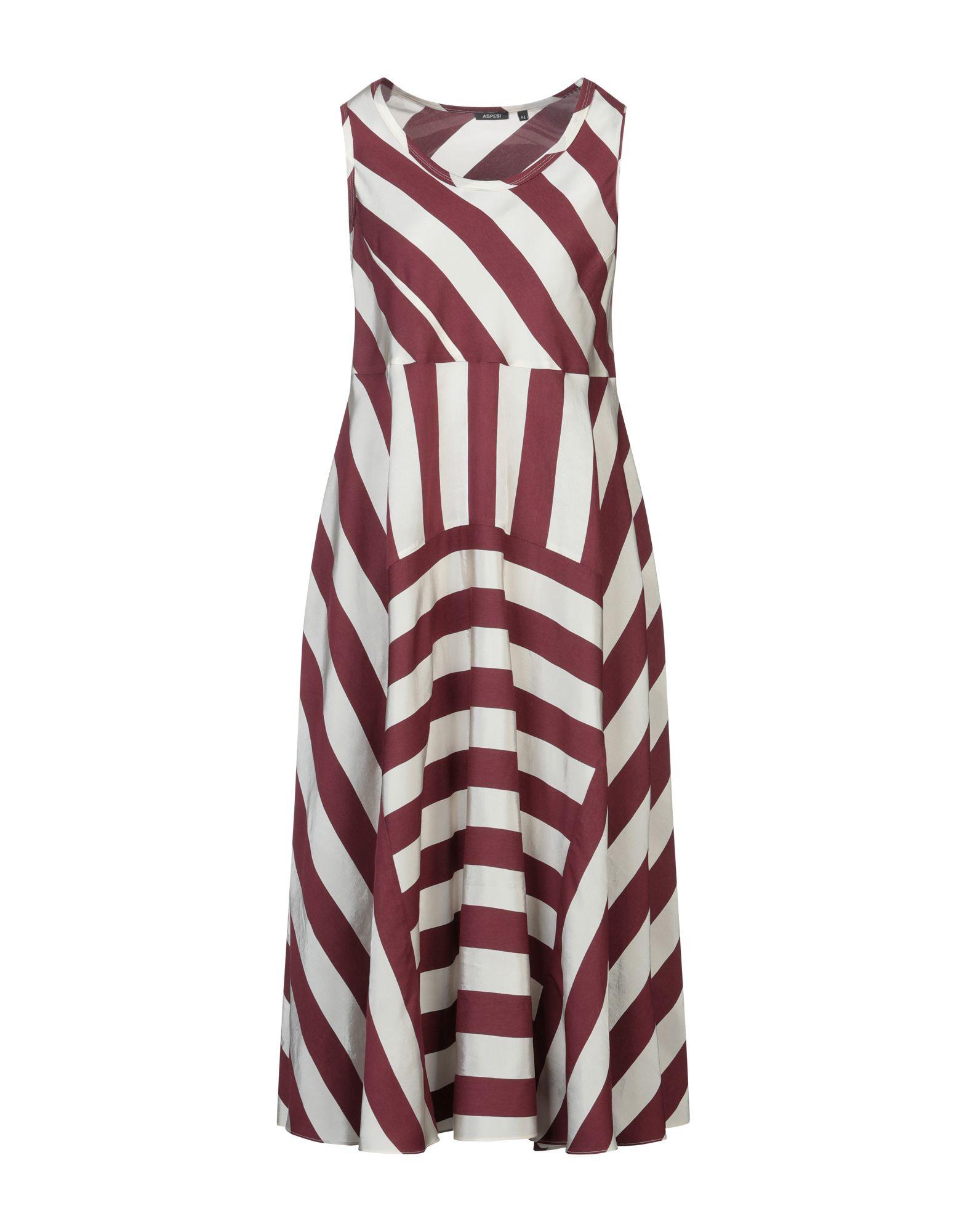 ASPESI Платье длиной 3/4 летом 2015 новый суд европы печати тонкая талия ретро платье без рукавов жилет юбка в конце детей