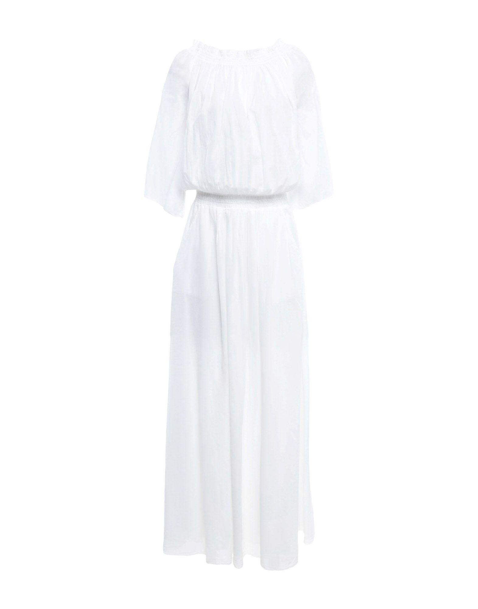 《期間限定 セール開催中》EUROPEAN CULTURE レディース ロングワンピース&ドレス ホワイト M コットン 100%