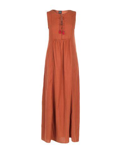 Фото - Женское длинное платье SWILDENS ржаво-коричневого цвета