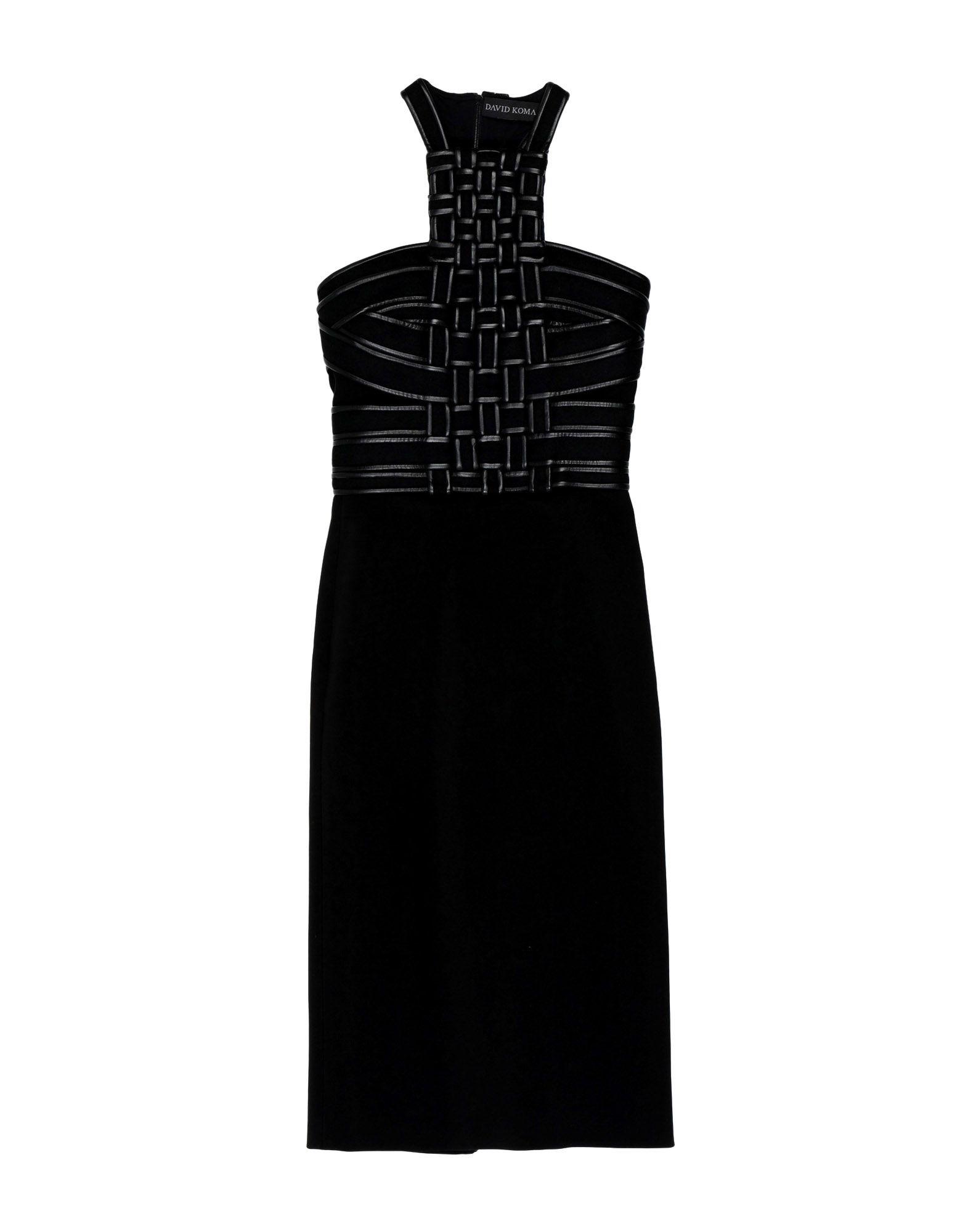 DAVID KOMA Платье до колена недорго, оригинальная цена